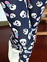 Femei coreeană Stil Skull model Legging Pantaloni