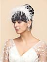 Un nivel Voal de Nuntă Voaluri de Obraz Birdcage Veils Cu Tulle A-line, Rochie de Bal, Prințesă, Foaie / Coloană, Trompetă / Sirenă