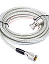 Huahong RC-5m UHF Cablu pentru Walkie Talkie - Transparent + Silver (5M-Lungime)