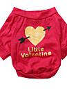 Hund T-shirt Hundkläder Andningsfunktion Hjärtan Ros Kostym För husdjur