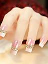 500st MiXs 1.5mm/2mm/3mm halvklotet nagel konst guld & silverdekorationer