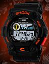 SKMEI Bărbați Ceas digital Ceas de Mână Piloane de Menținut Carnea Calendar Cronograf Rezistent la Apă LCD Cauciuc Bandă Charm Negru