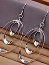 vilin kvinnors silver cirkel örhängen klassisk feminin stil