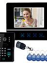 """7 """"Görüntülü Kapı Telefonu kapı zili interkom Sistemi Dokunmatik Panel Kapı Kilidi RFID Keyfobs"""