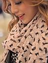 femei de moda model pisica minunat sifon eșarfă