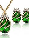 Pentru femei Set bijuterii - Zirconiu Cubic, Placat Auriu Modă Include Rosu / Verde / Albastru Pentru Nuntă / Petrecere / Zilnic