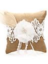 Lenjerie de nunta Ring pernă cu dantela si flori