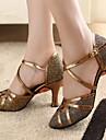 Femme Chaussures Modernes / Salon Paillette Brillante / Similicuir Talon Talon Personnalise Personnalisables Chaussures de danse Bronze /