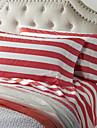 Gros Sheet Set Red Stripe, 4 piese 100% bumbac