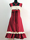 Lolita Classique/Traditionnelle Princesse Femme Robes Cosplay Rouge Sans Manches Moyen