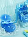 albastru bootie copil lumânare