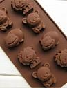 bakformen Djur Choklad Paj Tårta Silikon Miljövänlig GDS (Gör det själv) 3D