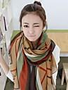 domnișoară. toamnă femeilor și iarna nou dungi retro coreeană lung de bumbac și eșarfe lenjerie