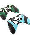 2 buc camuflaj silicon de protecție piele caz pentru Xbox360 controler