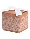 cub de hârtie de hârtie carte de favoare cu dantela favoare cutii-12 nunti favoruri