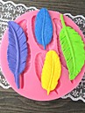 Patru frunze lungi Coaceți Fondant mucegai tort, L9cm * W9.2cm * H1cm