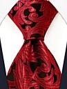 Bărbați Casual Floral Print Red mătase Cravată