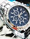 בגדי ריקוד גברים שעון יד קווארץ כסף שעונים יום יומיים אנלוגי קסם - לבן שחור כחול שנה אחת חיי סוללה / Jinli 377