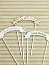 Happy Birthday Card de naștere Tort Topper (Mai multe culori) (Small size 13 cm lățime) (de mari dimensiuni de 15 cm lățime)