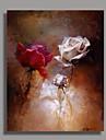 Pictat manual Floral/Botanic Vertical,Clasic Tradițional Un Panou Hang-pictate pictură în ulei For Pagina de decorare