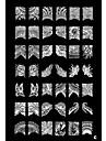 1pcs 42 plante modèle nail art estampage estampille l'image plaque de modèle c