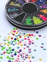 500st mix färg godis ab akryl strass hjul nagel konst dekoration