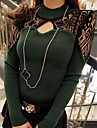 Women's Lace Hollow Out Small Collar Thread Cotton Knitted Sweater