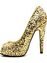 Dame Primăvară Vară Toamnă Platforme Rochie Party & Seară Toc Stiletto Argintiu Auriu