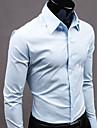 domn nono cu maneca lunga cămașă de culoare pură