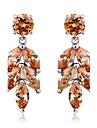 Pentru femei Pentru cupluri Pentru copii Zirconiu Cubic Zirconiu Cubic Rotund Bijuterii Alb Rosu Curcubeu Maro deschis Costum de bijuterii