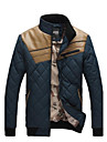 Men's New Fashion Stand Collar Long Sleeve Windproof Hit Color Down Jackets.
