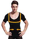 sommar män bantning kropp shaper kortärmad skjorta magen kontroll underkläder fast mage byst svarta ny103