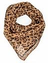 Pentru femei Leopard Imprimeu Draguț Petrecere Birou, Șifon - Pătrat
