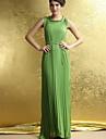Femei plisate Hem solid Culoare talie subțire Maxi Dress