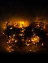 10m 100 LED-uri lumini decorative de Halloween lumini festive benzi-ordine galben lumina siruri de caractere (220V)