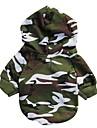 Chat Chien Pulls a capuche Vetements pour Chien camouflage Couleur camouflage Coton Costume Pour les animaux domestiques Homme Mode