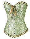 Feminin Corset peste Bust Pijamale Polyester / Spandex Jacquard Verde