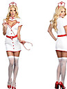 Lockande Girl Vit Nurse Uniform