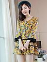 femei coreene libere de mari dimensiuni femei rochie floral