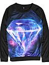 Women's Fashion Top Long Sleeve Carton Print Shirt