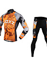 FJQXZ رجالي كم طويل جورسيه مع فيزون للدراجة مموه دراجة هوائية مجموعات الثياب, ضد الهواء, متنفس, 3D وسادة, الدفء, سريع جاف شبكة مموه / الأشعة فوق البنفسجية مقاوم