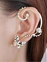 Cercei Stud Cătușe pentru urechi imitație de diamant Aliaj Animal Shape Fluture Auriu Bijuterii Pentru Petrecere Zilnic 1 buc