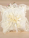superba nunta perna inel cu trandafir de design panglică