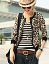 leopard geaca de piele imprimare femei