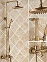 Antichizat Sistem de Duș Valvă Ceramică Trei găuri Singur mâner trei găuri Robinete de Duș