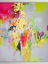 Hang-pictate pictură în ulei Pictat manual - Abstract Clasic pânză