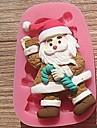 Crăciun Crăciun cârje tort fondant instrumente de decor de ciocolată silicon mucegai tort, l7.8cm * w5cm * h1.7cm