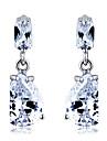 aska silverplätering mode eleganta örhängen klassisk feminin stil