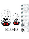 yemannvyou®14pcs mode cravate B1040 autocollant motif de chat nail art paillettes