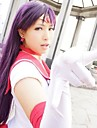 Perruques de Cosplay Sailor Moon Sailor Mars Violet Long Anime Perruques de Cosplay 100 CM Fibre resistante a la chaleur Feminin